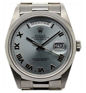 Rolex Day-Date Platin Ice-Blue
